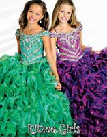 Wholesale Best Selling Rhinestone Glitz Beauty New Ball Gown Pageant Dress Flower Girl Dresses