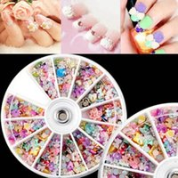 Wholesale Nail Art Tips Mixed Design Beauty Per Box Wheel Rhinestones Slice Decoration order lt no tracking