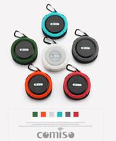 audio speakers online - 2016 New My vision Outdoor Sport Car Portable Waterproof Shockproof Wireless Bluetooth Speaker C6 Online Shipping