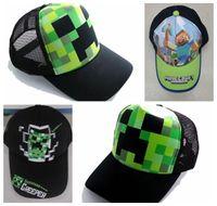 lorries - Minecraft Creeper Mesh Caps Cartoon Trucker Caps Lorry Caps Fashion caps Men Adjustbale Hats Cheap in stock
