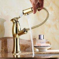 Wholesale Bathroom Faucet Gold single Handle sink Mixer Tap Bathroom Single Hole Wash basin faucet Polished Tap MT A