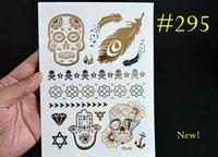 flashing christmas jewelry - 20 Gold And Silver Temporary Metallic Jewelry Tattoos Flash Gold and Silver Foil Tattoos Christmas Gift