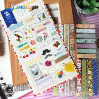 Wholesale Pack Sonia Korea Wind Beautiful Floral Paper Decoration Stickers Decorative