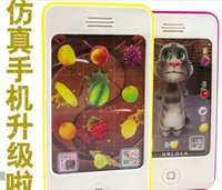 Wholesale BabyToys iphone s model toy baby s iphone learning machine musical phone toys for babies