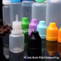 Wholesale 4000pcs LDPE Plastic Dropper Bottles ML Empty Oil Bottles Eye Drops bottle ECigarette Liquid Needle Tip Bottle With Safety Cap