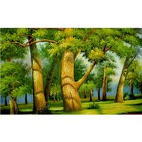 big green settings - New D DIY Diamond Painting Big And Green Tree Picture For Rhinestones In Settings Diamond Inlay Home Decoration Drawing C298