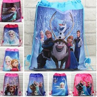 Wholesale 30pcs new style children s Non woven backpack froze n princess Elsa Anna School bag Party Favors design CC09