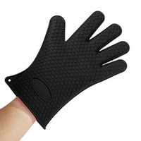 Wholesale 5 Color pc Heat Resistant Anti Slip Silicone Glove Oven Pot Holder Mitts Glove Unisex Silicone Glove Oven Baking Glove