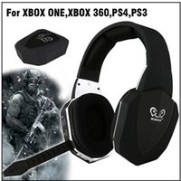 Cheap Wireless Optical Fiber Gaming Headset Noise Cancelling Stereo Headphone with Detachable Microphone for Xbox One Xbox 360 PS4 PS3