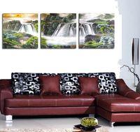 cornucopia - Rising sun triple frameless painting decorative painting modern living room restaurant mural paintings cornucopia office