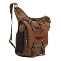 Wholesale 100 Brand New Hight Quality Mens Boys Vintage Canvas Shoulder Military Messenger Bag Sling School Bags