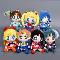baby venus - 6sets cm Cartoon Sailor Moon Plush Doll Mars Jupiter Venus Mercury Uranus Pluto Stuffed Pendant Baby Toy Anime Sailor Moon Hot Toys