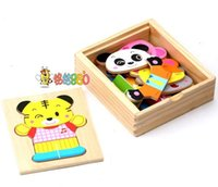 baby clothing gift set box - Discount Hot Sale wooden toy baby gift puzzle Q bear changing clothes in box set combination pc