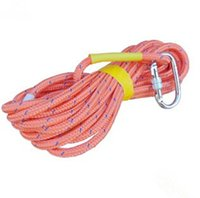 Wholesale 10 meters Steel wire rope core security Fire rope Outdoor Climbing rope Aerial Work with mm steel wire core polyester yarn