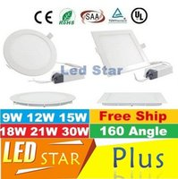 Wholesale NEW Recessed Led Downlight Round Square Dimmable W W W W W W Led Down Lights Ultra Thin AC V ce ul saa