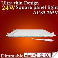 Wholesale Dimmable Ultra thin Design W W W W W W W W LED ceiling recessed grid downlight Round panel light Square panel light