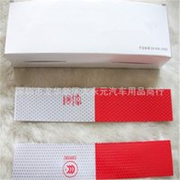 auto body supply - Fantastic reflective stickers warning car strip reflective Truck Auto supplies night driving safety secure body red white