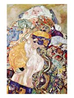 Oil Painting baby klimt - Modern Art Baby Gustav Klimt oil painting on Canvas High quality Hand painted