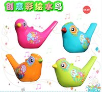Wholesale Creative painting birds whistling wind instrument children early childhood educational music toys in infants