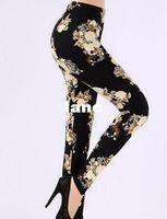 Wholesale Fashion Hot Women Leggings Pantalones Black Milk Print Leggings Summer Style Soft To Skin Material Fitness Women Nine Leggins