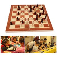Wholesale New Child toys Wooden Chess Set Pieces wood with Board Storage Box Christmas Gift Kids Toy high qualuity