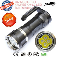 Wholesale AloneFire C013 Waterproof LED Diving Flashlight Lumens XCREE XML L2 XML L2 Diving Torch Led Flash Light lanttern Flashlight Underwater