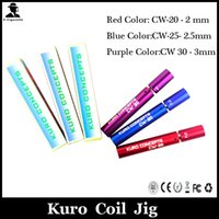 automatic wire machines - Red Color CW Blue Color CW Purple Color CW Kuro Concepts Kuro Koiler coil jig Automatic Wire Coiling Machine For RDA Atomizer