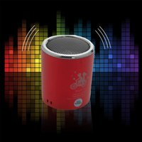 Wholesale Mini Subwoofer Metal Stereo HiFi Speaker Sound Box Subwoofer Speakers Support USB TF Card FM Radio without Wireless Bluetooth