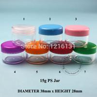 Wholesale Promotion g PS small round cream bottle jars pot cc plastic cream container
