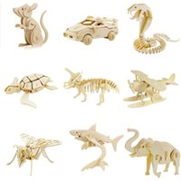 Wholesale Wooden d Three dimensional Puzzle Children s Educational And Creative Toys Assembled Wooden Model Toy