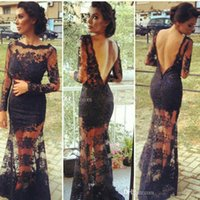 Cheap Reference Images prom dresses Best Crew Lace evening gowns