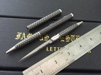 Wholesale Carbon Fiber Camo Tactical Hidden Knife Pen serrate in Stainess Steel Blade