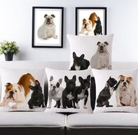 big bulldog - Pug Dogs Big Face Pattern Print Custom Home Decorative Throw Pillow covers almofadas decorattions Puppy bulldog sofa car cushion