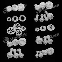 Wholesale 33pcs Plunger Fondant Cutter Cake Tools Cookie Biscuit Cake Mold Mould Craft DIY D Sugarcraft Cake Decorating Tools Free DHL Factory