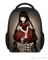 Wholesale Girl Printing Cute Cartoon School Bags inches Teen Student Girls Backpack Gift For Kids Retail