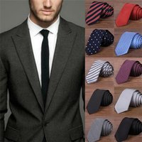 Wholesale Hot Sales Fashion Silk Men s Casual Ties Neck Ties Polyester Classic Jacquard Woven Colors EA31