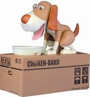 Wholesale Choken Bako Hungry Eating Dog Coin Piggy Money Bank Saving Box Creative Moneybox Coin Bank