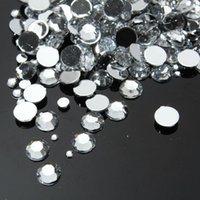 Wholesale 1500Pcs Pack Hot Sale D Nail Art Crystal Decorations Mix Sizes DIY Clear Round Acrylic Nails Rhinestones Tools