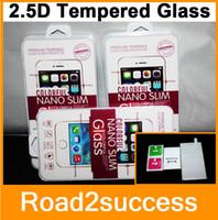 Nuevo para el iPhone 4 4S 5 5S 5C 6 4,7 más 5,5 Premium Real vidrio templado de película Explosión protector de la pantalla del paquete al por menor prueba de la alta calidad