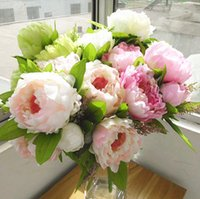 quality silk flowers - peony flower heads new Bouquet Artificial Peony Silk Flowers with high quality