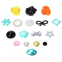 Wholesale New Mixed Hearts Resin Pearls Bow Rose Embellishments Card Making Wedding Invitation Cards Decoration Rhinestone Accessories