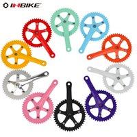 Wholesale Bicycle Crank Chainwheel Tooth plate orange light grey light white purple red inbike t alloy crankset bicycle
