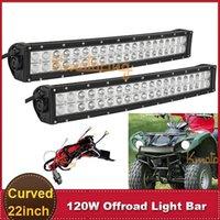 Cheap 120W CREE 22 Inch Offroad LED Work Light Bar ATV SUV Wagon 4WD Pick-up Military Trailer 12V 24V Car Auto Roof Bumper Headlight