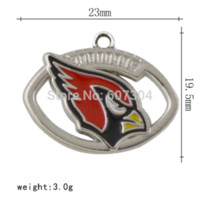 arizona metal - 10pcs A Zinc Alloy Metal Plating Enamal Arizona Cardinals Team Logo Charms For Key Chains