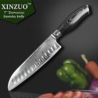 Wholesale damascus knives inch chef knife kitchen knives vg10 damascus steel Slicing santoku japanese knife damascus kitchen knife