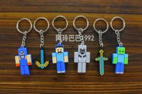Wholesale Minecraft Enderman JJ coolie silicon Rubber Key Chains Minecraft Keychain pendant Novelty ltem Christmas Gift C001
