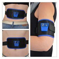 Wholesale retail packagin Belt AB Massage Slim Fit Gymnic Front Muscle Arm leg Waist AbdominalToning health care body massage EMS