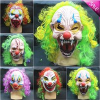 Wholesale Halloween Halloween funny clown grimace latex mask spookier masquerade mask factory