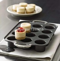 Wholesale cups round shaped cheesecake pan non stick muffin pan bakeware