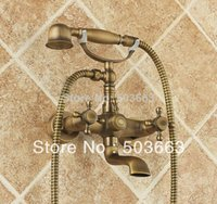 antique electric mixer - Rain Shower Faucet Mixer Tap Antique Brass Bath Shower Faucet Set S